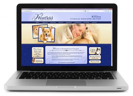 Custom website for veterinary practices