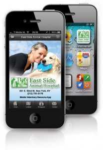 screen shot of vetnetwork veterinary hospital apps
