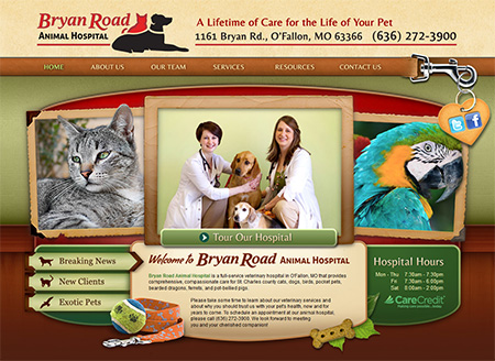 veterinary website design