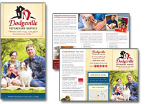 veterinary marketing brochure
