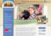 web design for vet site