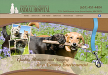 veterinary hospital websites